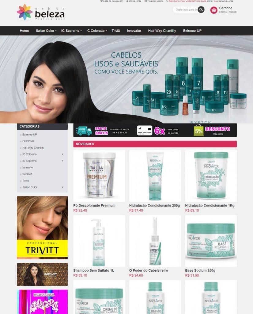 loja web da beleza